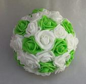 Buket na svatební auto zelené jablko/bílá,