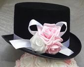 Cylindr na svatební auto - růžová/bílá,