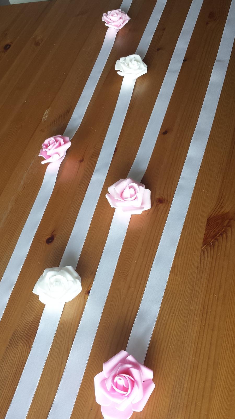 Krajkový růžový SW podvazek - Obrázek č. 4