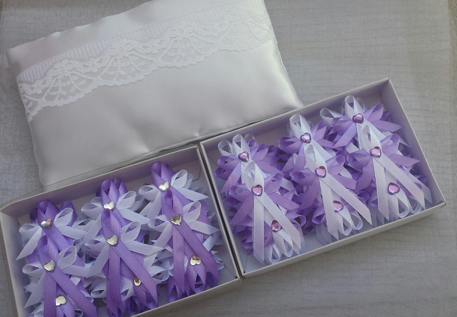Vývazky fialová a bílá - Obrázek č. 1