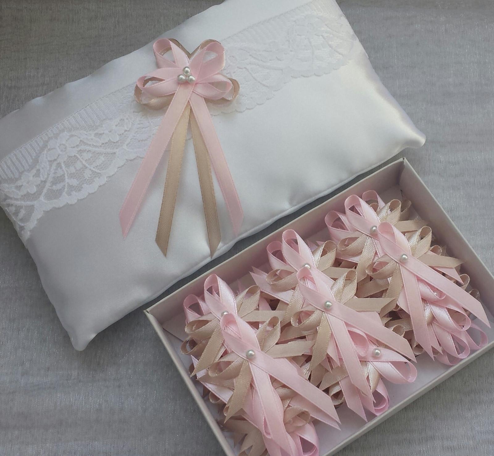 Svatební vývazky Pink & Nude - Obrázek č. 1