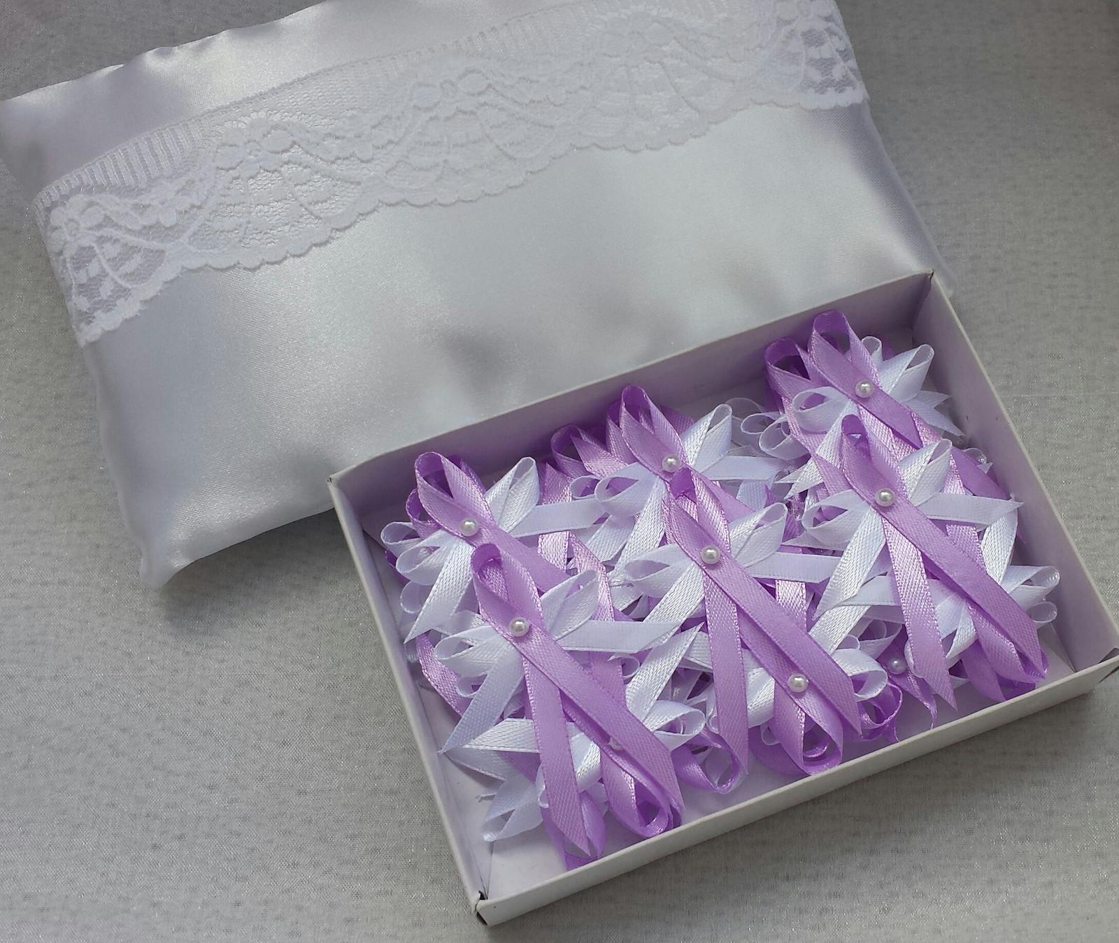 Lila svatební vývazky - Obrázek č. 1