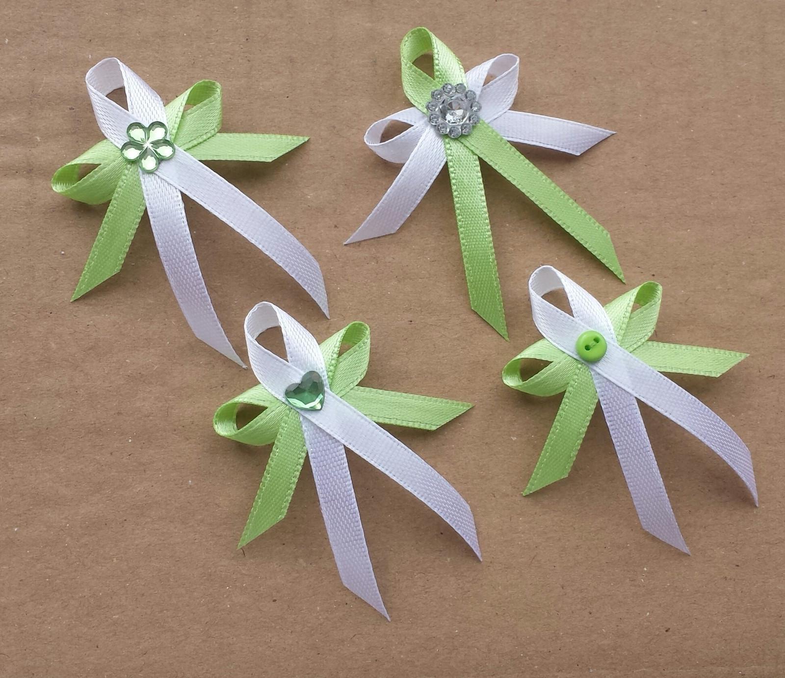 Krajkový zelenkavý SW podvazek - bílá krajka - Obrázek č. 2