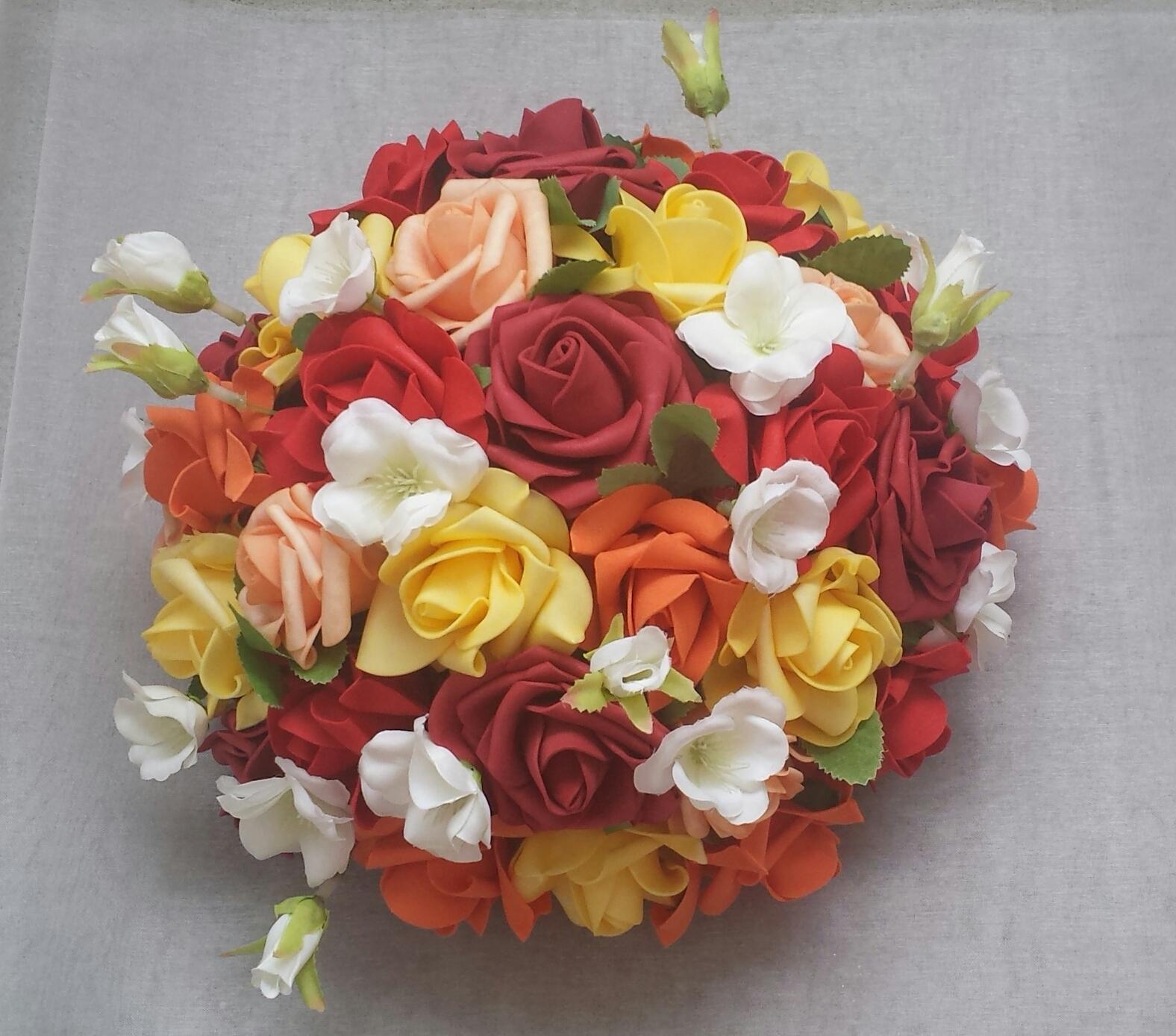 Buket na svatební auto podzimní - Obrázek č. 1
