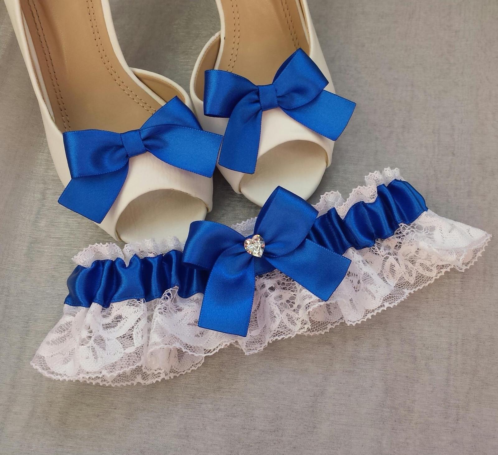 Klipy na boty pro nevěstu s královskou mašličkou - Obrázek č. 1