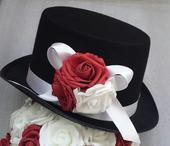 Cylindr na svatební auto - bílá/bordo,
