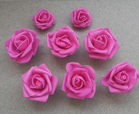 Pěnové růže s přísavkou velké - Obrázek č. 1
