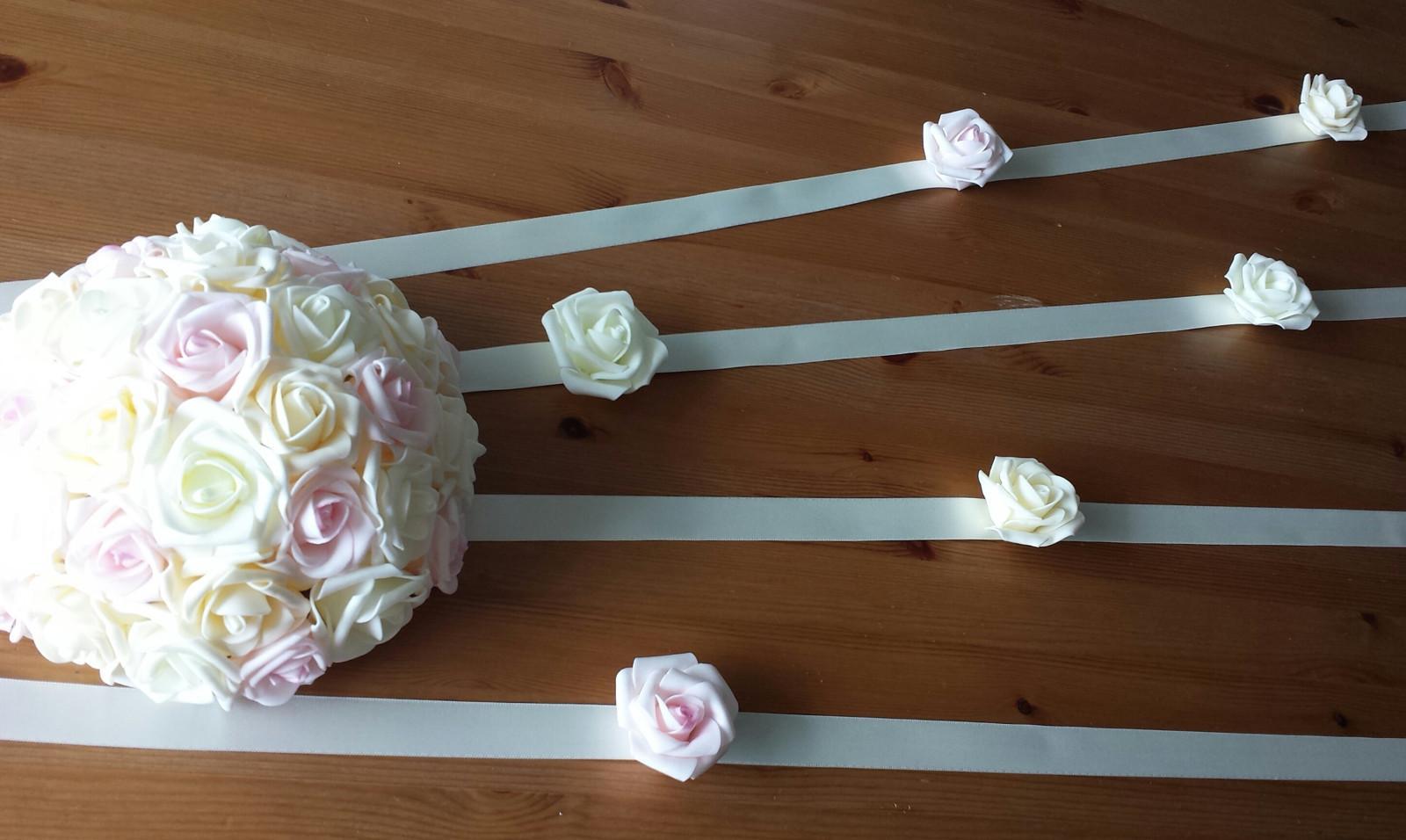 Šerpa na svatební auto BEZ BUKETU - Obrázek č. 1