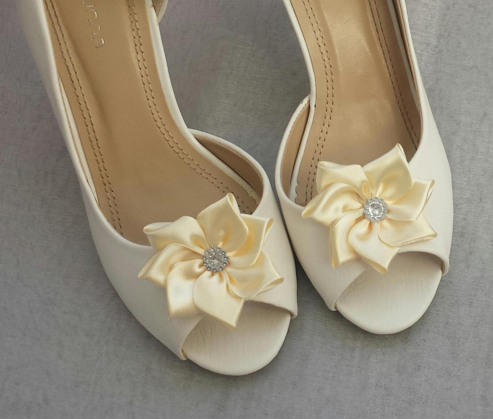 Šampaň klipy na boty pro nevěstu - KANZASHI - Obrázek č. 1