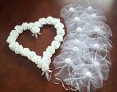 Pedigove srdce na kapotu - bílé,