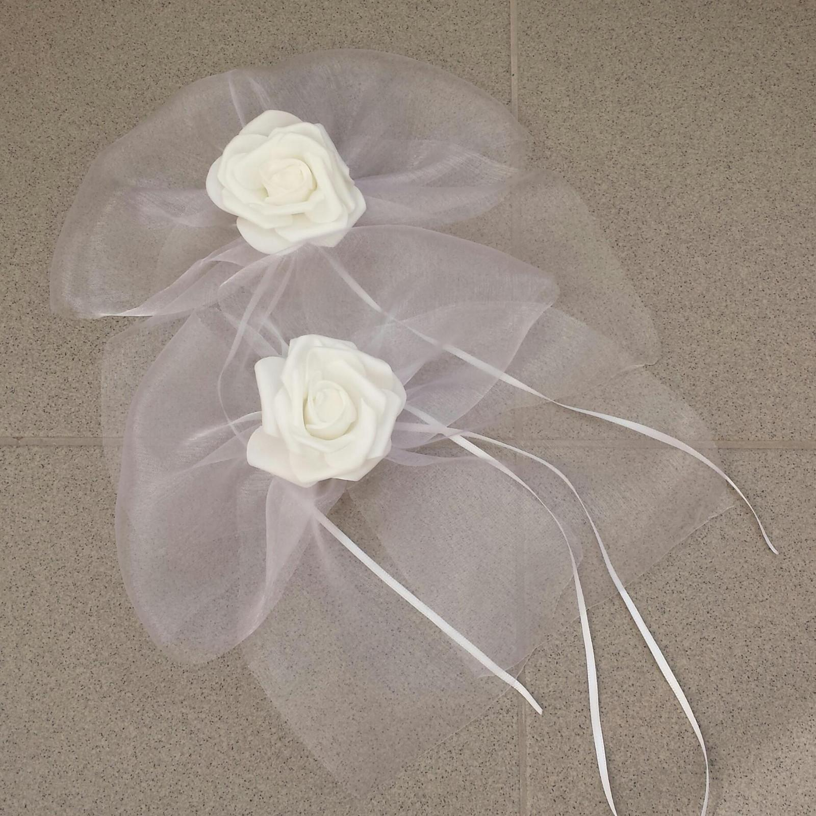 Stříbrný svatební polštářek s krajkou - Obrázek č. 4