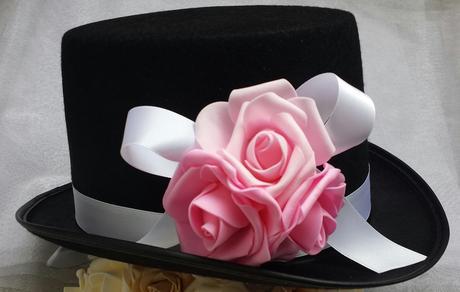 Cylindr na svatební auto - růžové růže - Obrázek č. 1