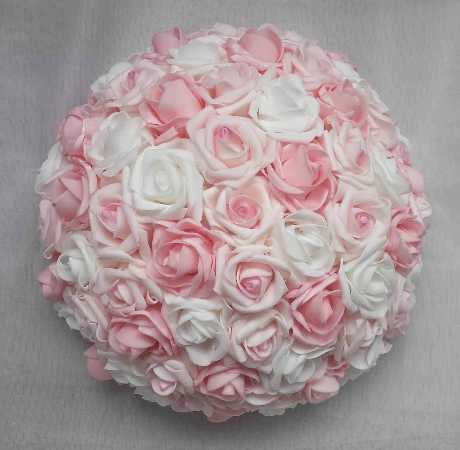 Cylindr na svatební auto - růžová/bílá - Obrázek č. 2