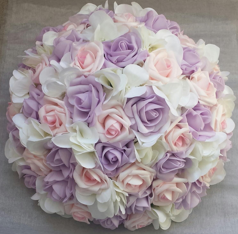 Srdce na kapotu bílá a růžová hortenzie - Obrázek č. 4