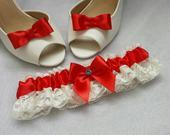 Klipy na boty s červenou mašličkou,