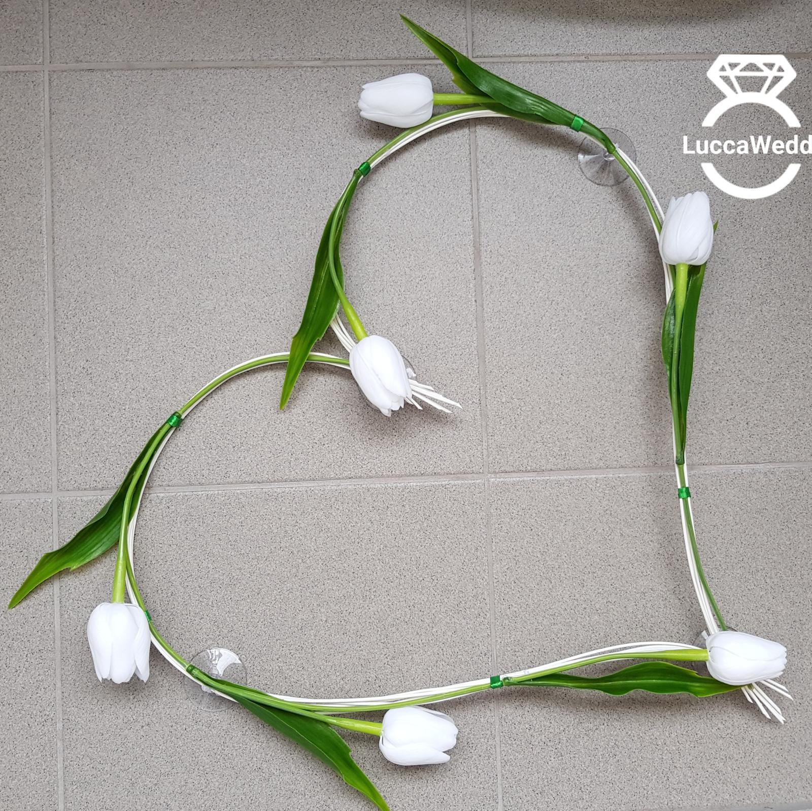 Pedigove srdce - bile tulipany - Obrázek č. 1