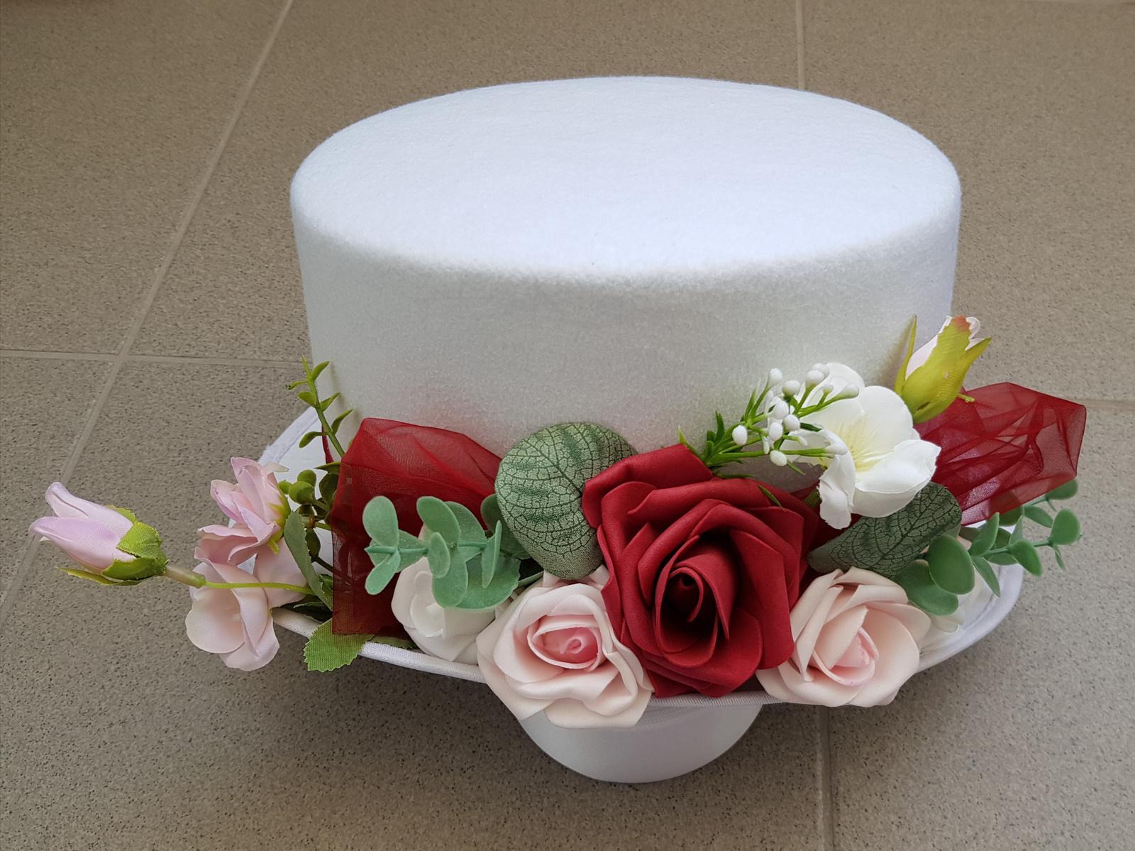 Srdce na kapotu bílá, růžová a starorůžová - Obrázek č. 4