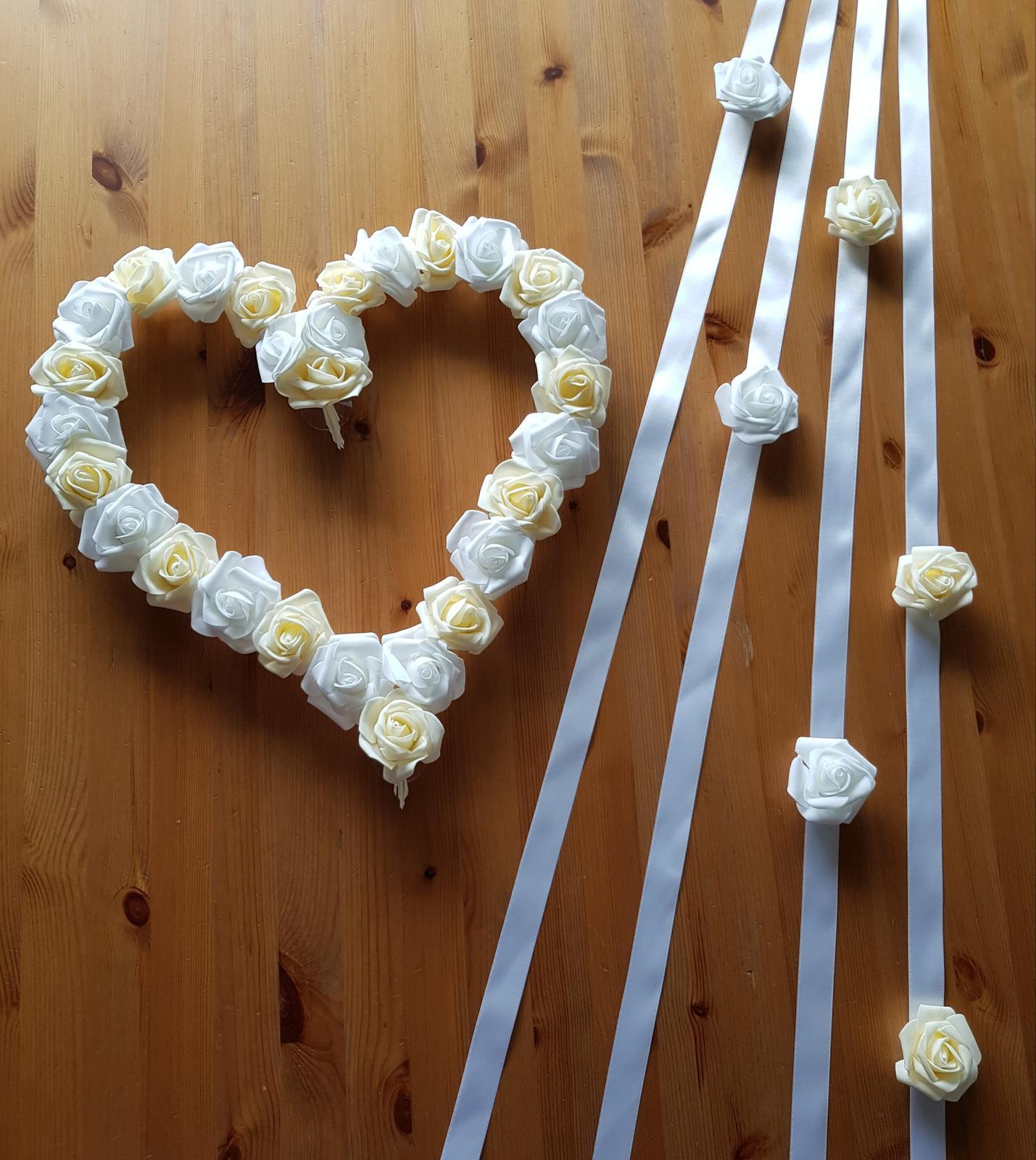 Cylindr na svatební auto - bílá/champagne - Obrázek č. 4