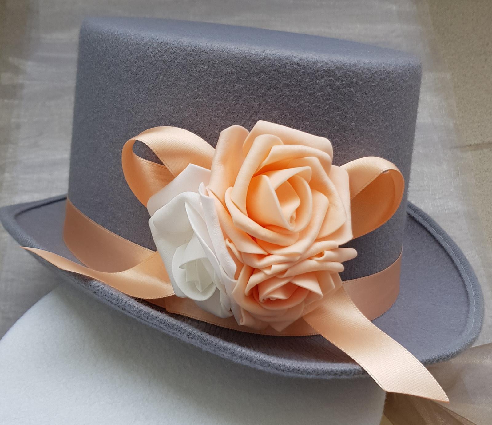 Buket na svatební auto růžová/bílá/broskvová - Obrázek č. 2