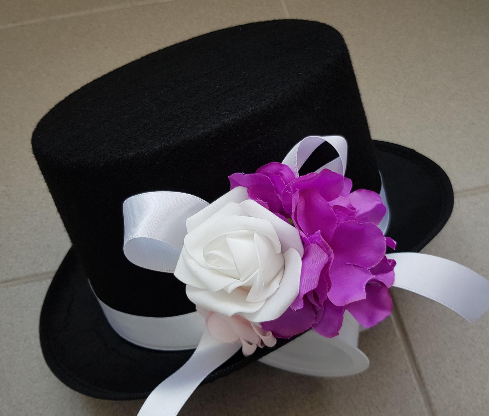 Cylindr na svatební auto - hortenzie + růžová/fial - Obrázek č. 1