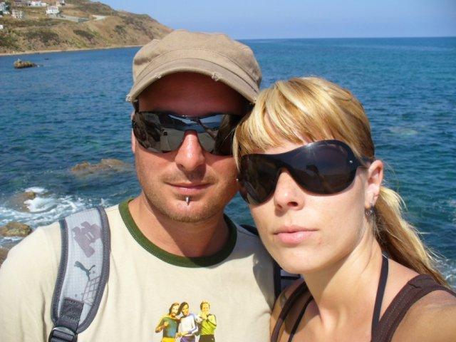 Lucia a Marcel - my na dovolenke v Tunise,kde ma požiadal o ruku