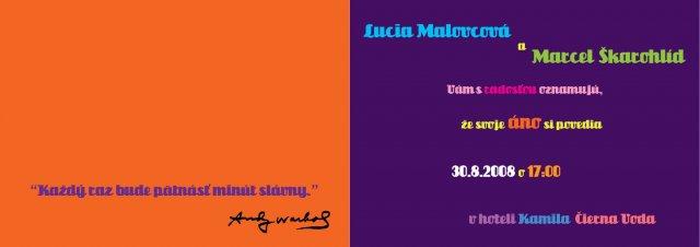 Lucia a Marcel - vnutro oznamka