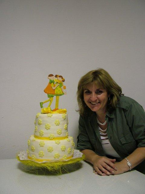 Eliska K.{{_AND_}}Misko F. - svadobna torta so svojou autorkou