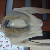 sveter s umelou kožušinkou, 36