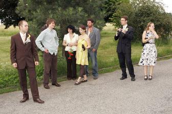 ženichovo strana čekající na nevěstu