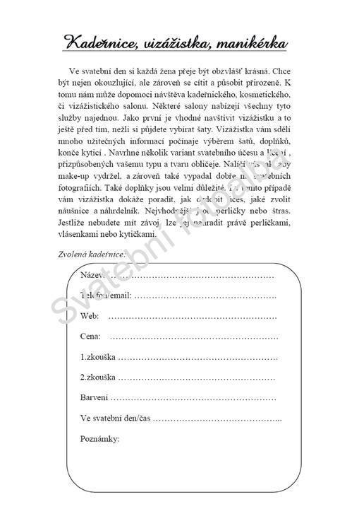 Svatební deníček - Obrázek č. 16