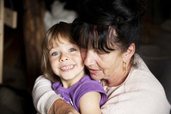 babička a nejmladší sestřička Zuzanka