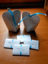 mandličky a čokoládky - precizní práce Love story