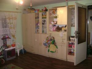 dětská stěna v nově uspořádané sestavě
