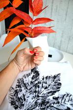 i nehty dostaly nádech podzimu, zkusila jsem ombré od světle oranžové po červenou