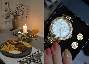 hodinky dostaly na valentýna kámošky do páru, přítel opět překvapil, večeři chystal sám, já ležela marod, miluji ho i po 18 letech pořád stejně, možná i víc :-)