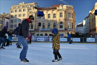 vánoční bruslení Ostrava