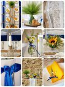 Kompletní výzdoba svatebního dne.,