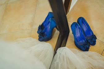 Co se týče bot na přezutí, hodně se od mých svatebních lišily.. :D