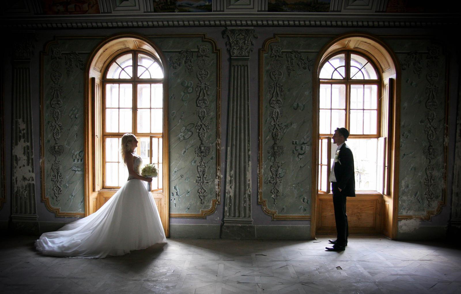 Luxusné svadobné šaty-Zľava - Obrázok č. 3