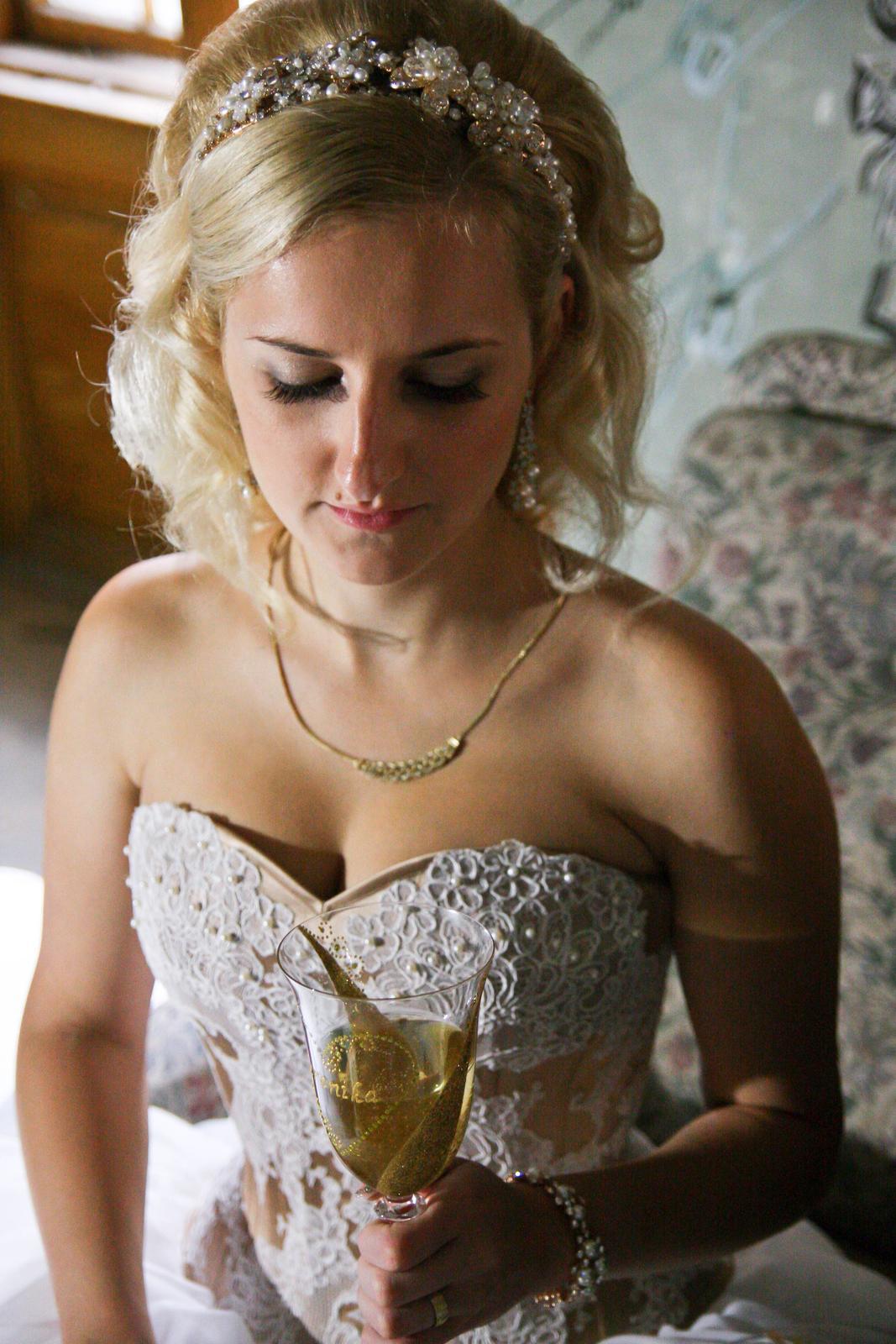 Luxusné svadobné šaty-Zľava - Obrázok č. 4