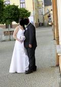 Bílé šněrovací šaty, 40