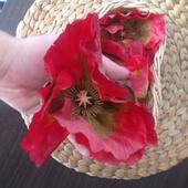 4 ks umělých květů vlčí mák,