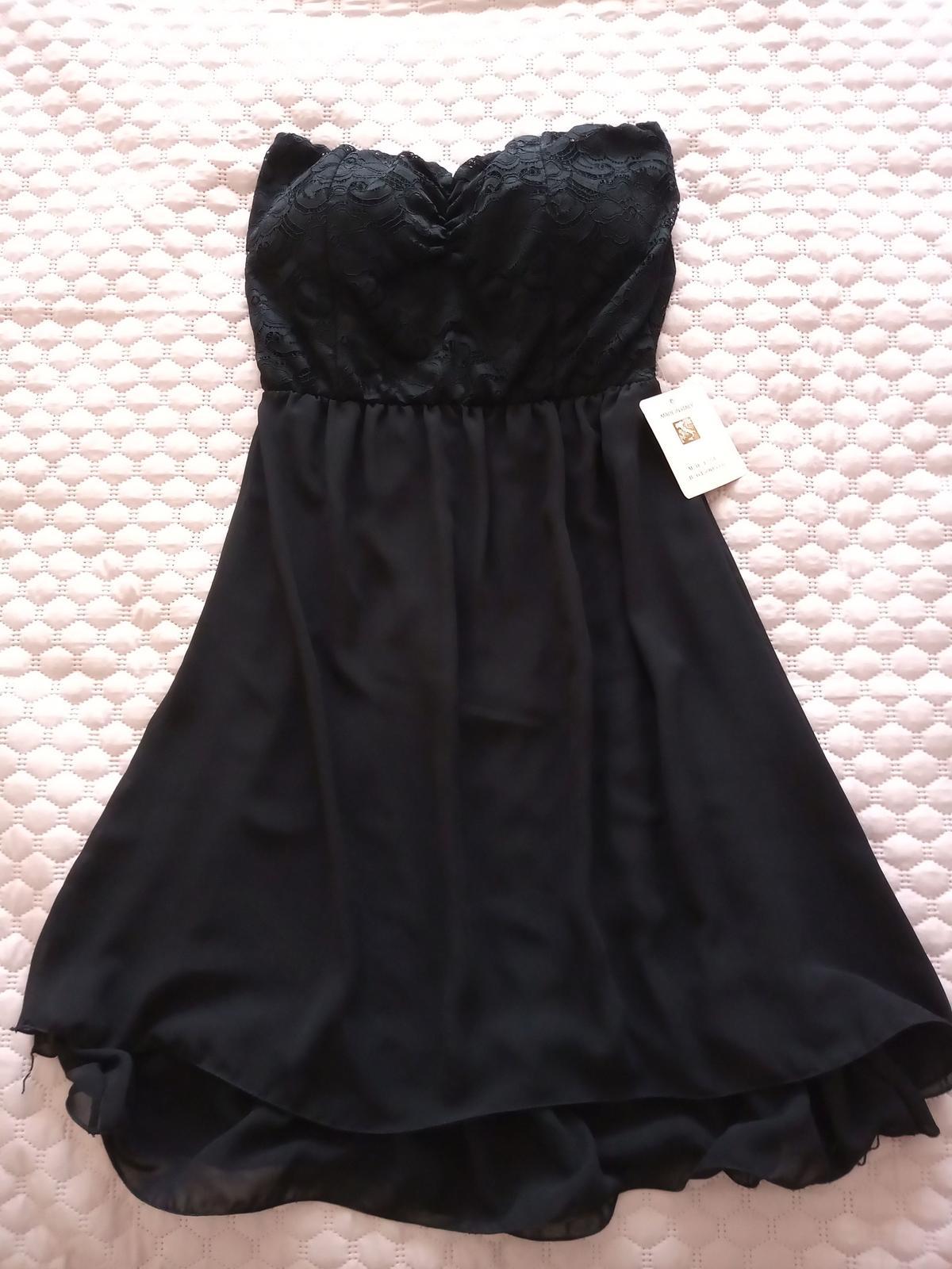 Čierne šaty nové veľ. S - Obrázok č. 2