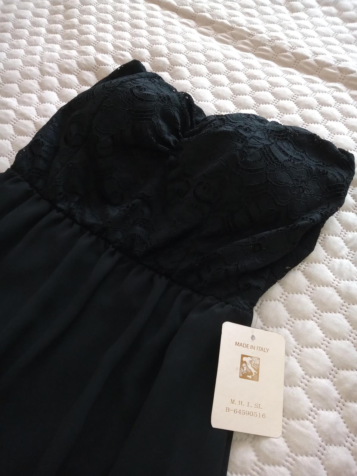Čierne šaty nové veľ. S - Obrázok č. 3
