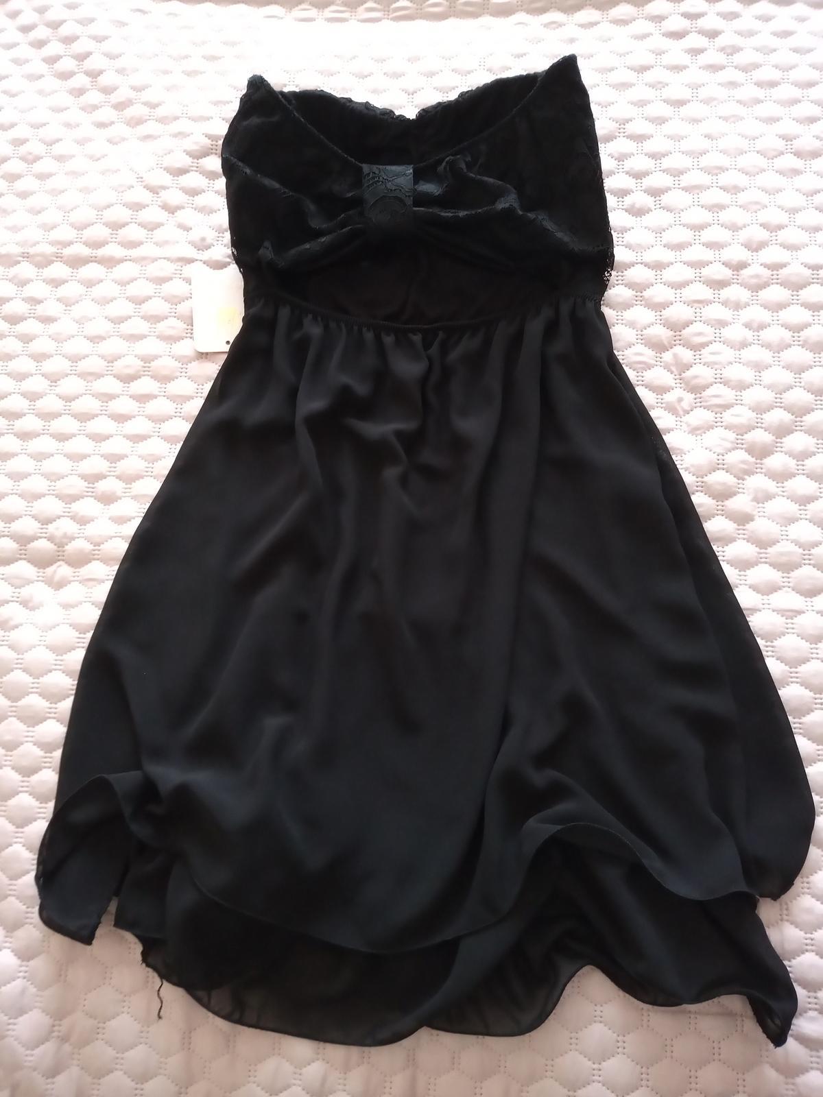 Čierne šaty nové veľ. S - Obrázok č. 4