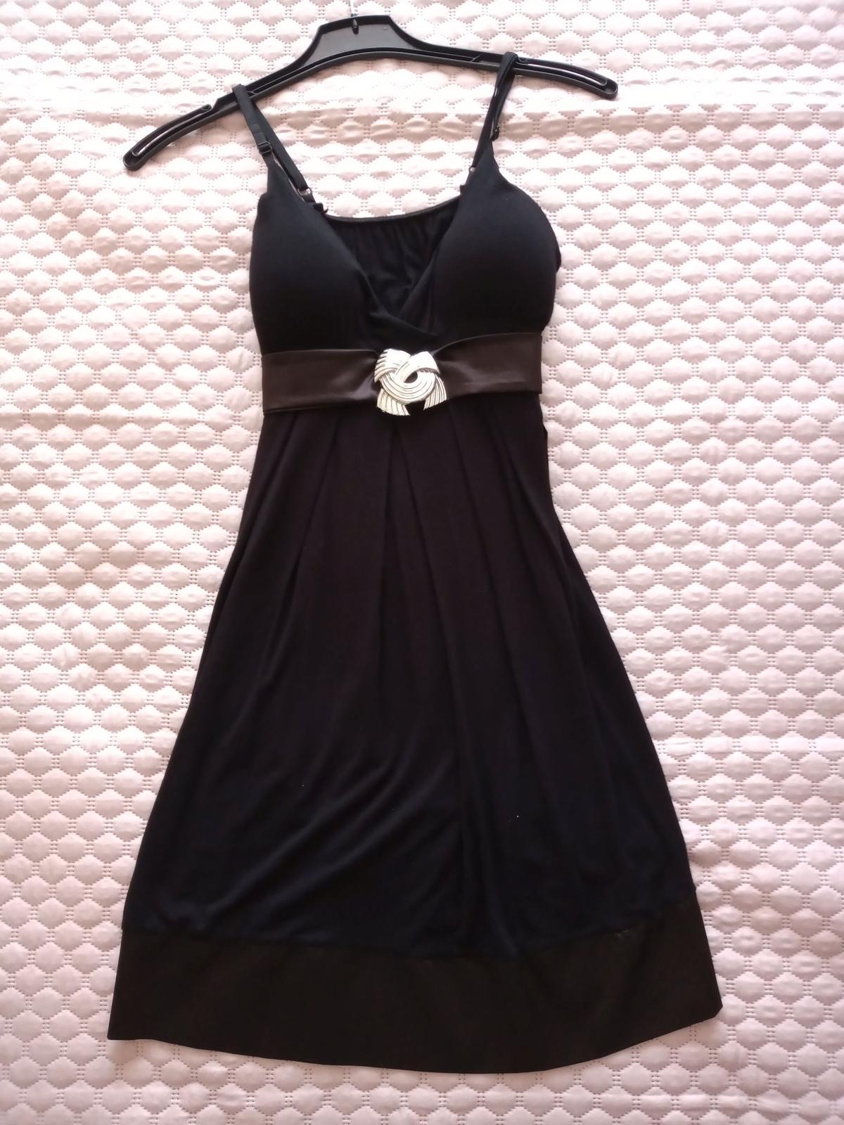 Čierne šaty veľ. S - Obrázok č. 1