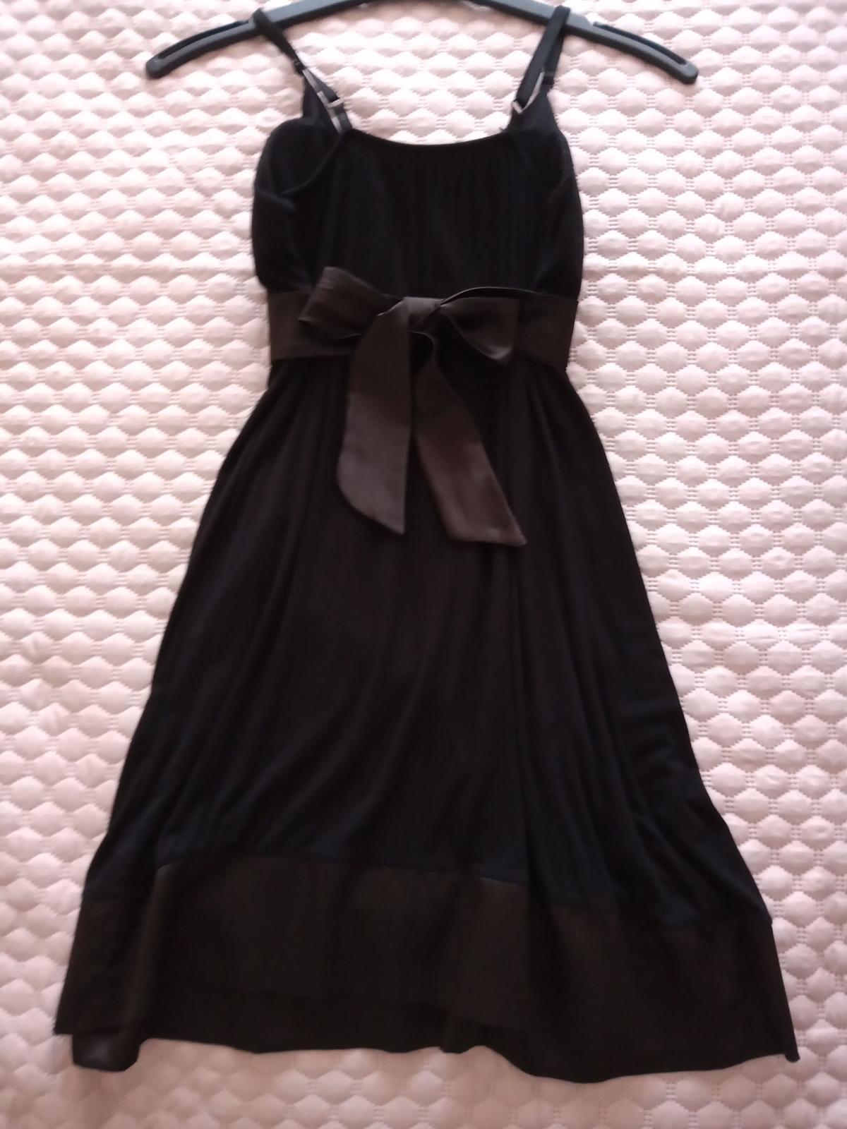 Čierne šaty veľ. S - Obrázok č. 2