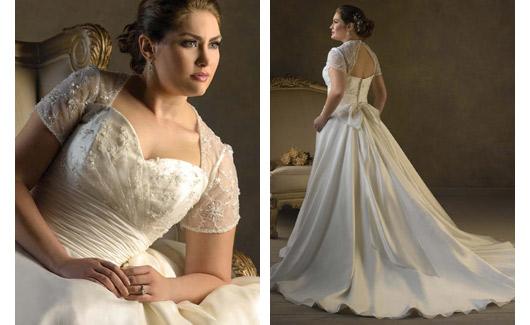 Plus size bride :o) - moc hezký živutek a bolerko