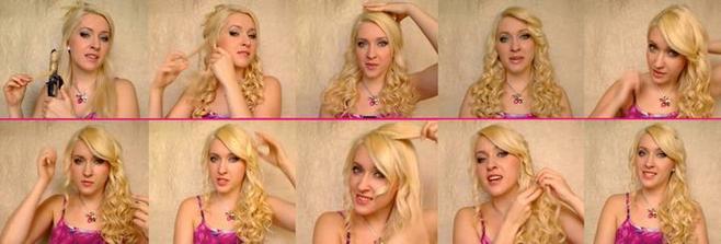 Kdyby nevyšla kadeřnice, aslespoň vim jak na to...   sestřihané z videa na youtube