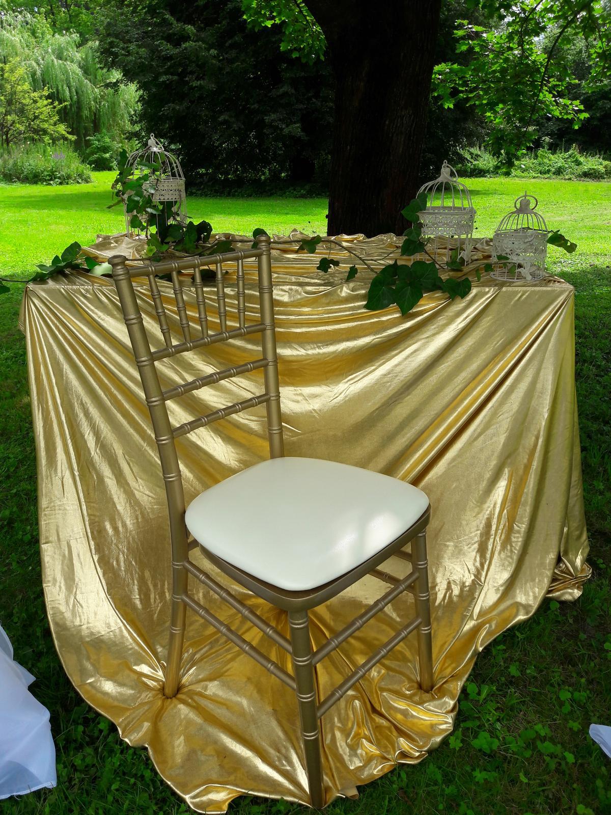 chiavari stoličky zlaté - Obrázok č. 3